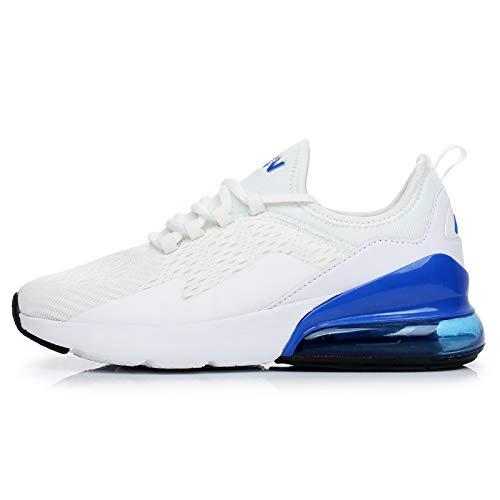 TORISKY Sneaker Herren Damen Air Laufschuhe Turnschuhe Sportschuhe Schuhe Fitness Gym Luftkissen(8999-WH/BL44)