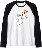 Bandera Espana Camiseta Manga Raglan
