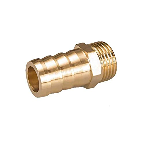 Jjzhb PYunLi-Accesorios de tubería de latón 4 mm 6 mm 8 mm 10 mm 12 mm 19 mm Manguera Barb Tail 1/8' 1/4' 1/2' 3/8' BSP Hombre, Brass Junta de tubería de Cobre, Accesorios de Manguera de Agua