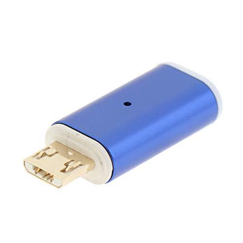 B Blesiya Adaptador magnético USB C tipo C a Micro USB convertidor para teléfonos Android – Azul