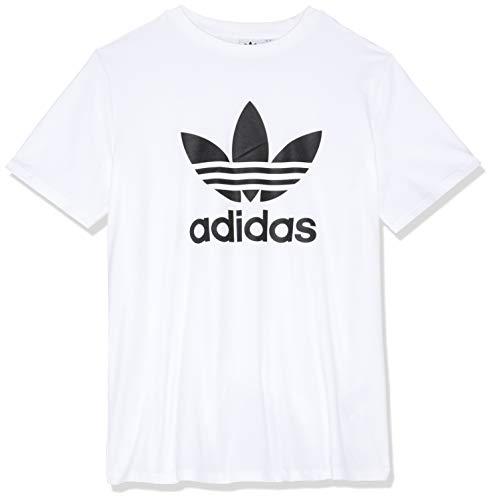 adidas Damen Trefoil Tee T-Shirt, Weiß (White/Black), D40