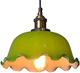 KY LEE Industrial Mini Pendant Lighting with Handblown Clear Seeded Glass Shade Adjustable Edison Farmhouse Kitchen Lamp for Kitchen Island Restaurants Hotels and Shops