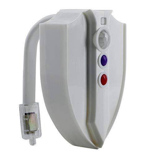 Toilette Licht – Nachtlicht Mit UV Desinfektion Licht, WC Licht Mit Bewegungsmelder Und Wasserdicht,Batteriebetriebenes, 8 Farbe Beleuchtung,Lichtsensor Toilettenbeleuchtung Licht