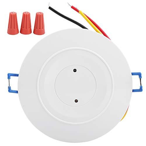 Interruptor de luz con detector de movimiento por microondas, equipo de control de inducción de radar con interruptor de sensor de movimiento de techo AC85-250V de 3,7 GHz