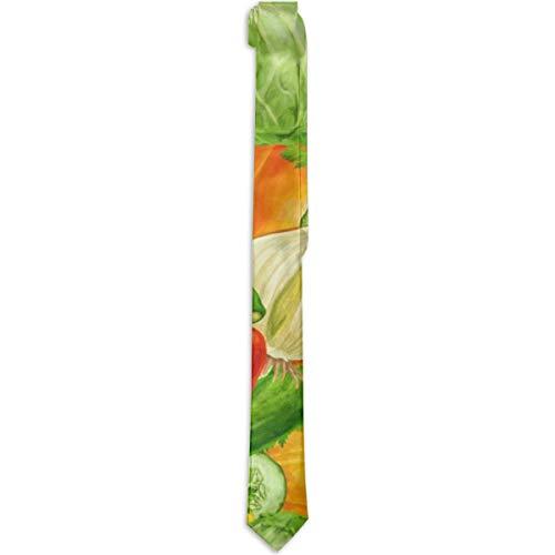 Jesse Tobias Gemüse Kohl Pfeffer Zwiebel Gurke Mode Männer einfarbige Krawatten für formelle oder ungezwungene Anlässe