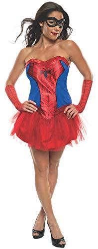 Secret Wishes Women's Marvel Universe Secret Wishes Spider-Girl Costume Tutu Dress and Mask, Multicolor, X-Small
