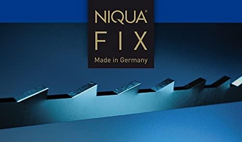 Laubsägeblatt NIQUA FIX BLAU Holzlaubsägeblatt Nr. 3-1 Gros (144 Stück) - 0,34 x 0,80 x 130 mm - Sägeblatt Werkzeug zum Sägen von Holz Plastik, Gips, Carbon und Horn