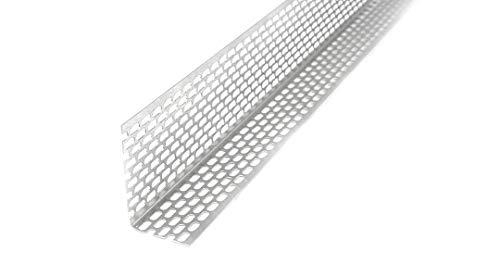 20 Stab Lüftungswinkel 30x50 mm, Länge 2,0 m, Aluminium, beidseitig oval gelocht, Marderschutz, Lüftungsgitter, Fassade