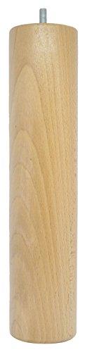 La Fabrique de Pieds Jeu de 4 Pieds de Lit, Bois, Verni Clair, 30 x 7 x 7 cm