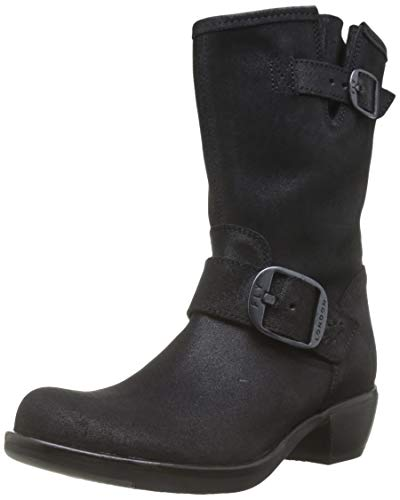 Fly London MYST466FLY, Botas Camperas para Mujer, Negro Negro 003, 35 EU