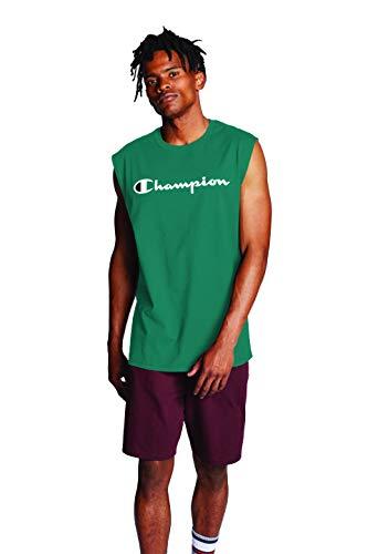 Champion Graphic Jersey Muscle Camiseta, Verde Fuera de la Rejilla, L para Hombre