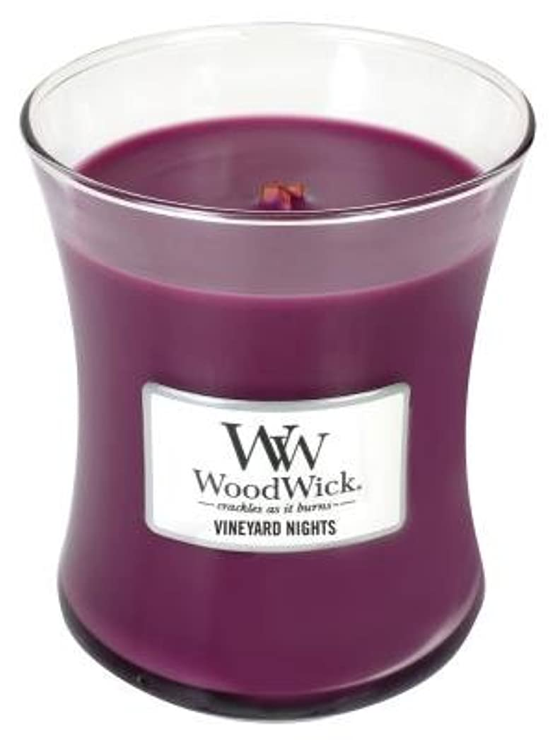 休み不道徳仕様Vineyard Nights WoodWick 10oz Large Jar Candle WoodwickによってBurns 100時間
