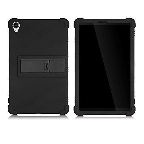 Dreneco Genérico Funda para Lenovo 2019 Tab M8FHD / M8HD / TB-8505 / TB8705 Tableta de 8 Pulgadas, Carcasa Silicona Cover con Soporte Función, Negro