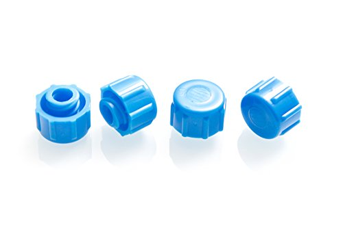Dispense All - Easy Grip Syringe Tip Cap - Luer Lock, Blue, Non-Sterile (100)