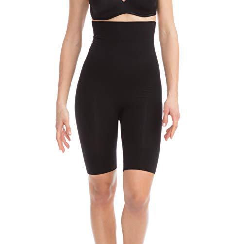 Farmacell Shape 603 (Negro, XXL) Faja Pantalon Corto de Microfibra, contenitivo y Moldeador con Talle Alto