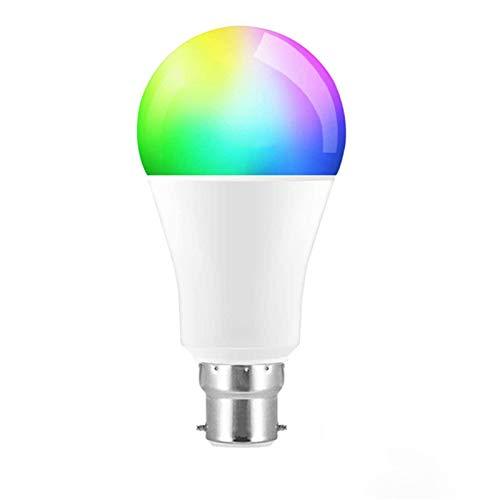 YING Bombilla De Luz Inteligente, Temperatura De Color Ajustable, Bombilla RGB De 9 W, Compatible con Control Remoto De Teléfono Inteligente, para Uso En Sala De Estar, Dormitorio, Paquete De 1,B22