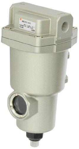 SMC AMD250C-N02 Micro Mist Separator Compressed Air Filter, Manual Drain, 0.01 micron, 1/4