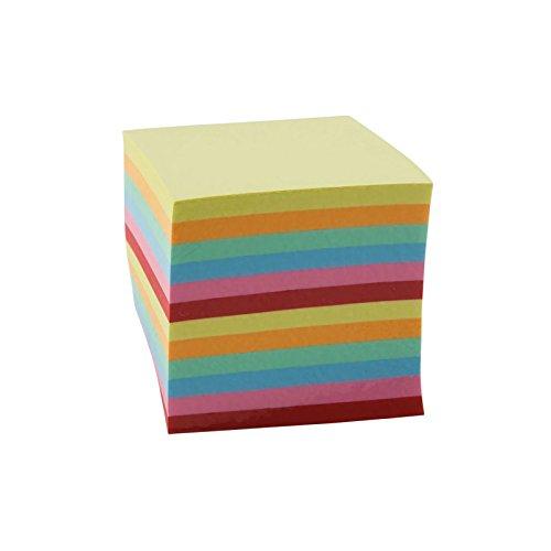 Idena 311023 - Notizklotz kopfgeleimt, 9 x 9 cm, 80g/m², 660 Blatt, farbig, 1 Stück