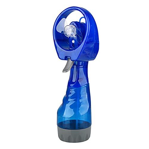 SOBW Ventilador de mano portátil con función de pulverización de agua, ventilador portátil para trabajo, fitness y viajes