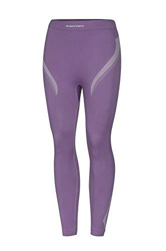 BodyDry Fit Caleçon long fonctionnel thermoactif respirant pour femme Idéal pour le ski snowboard ski de fond vélo moto Violet Violet L