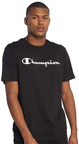 Camiseta Champion Hombre American Classic Logo Blanco de Manga Corta