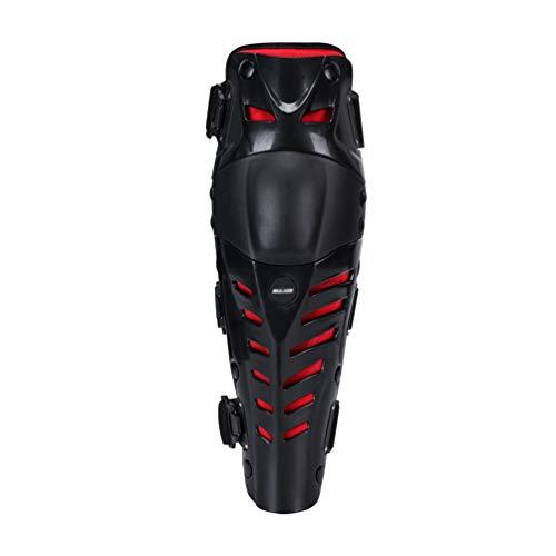 GladiolusA Knie Ellenbogen Knieprotektoren Lange Schienbeinschutz Schienbeinschoner Schutzausrüstung Für Motocross Motorrad Fahrrad Skateboard-Fahrrad Schwarz Rot Oberschenkel:35CM-45CM