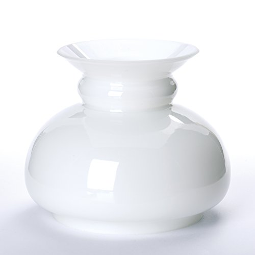 ORION LIGHTSTYLE Vesta Schirm Petroleumlampe in vielen Größen Petroschirm Glasschirm Öllampe weiß Opal Petroleum Glas (Durchmesser unten: 120mm)