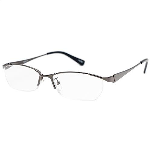藤田光学 老眼鏡 メンズ 1.5 度数 メタルフレーム ガンメタル MM-01+1.50