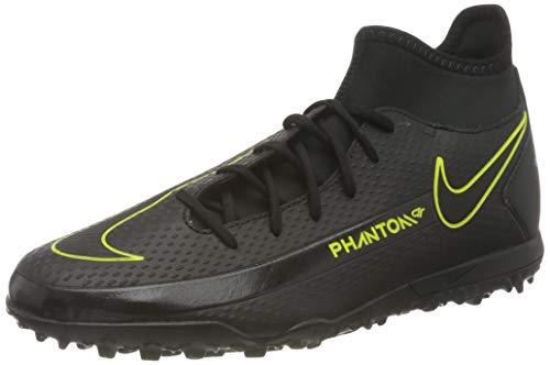 Nike Herren Phantom GT Club DF TF Football Shoe, Black/Black-Cyber-Light Photo Blue, 42 EU