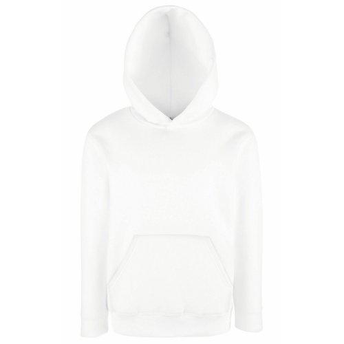 Sudadera con capucha para niños (unisex), de la marca Fruit of the Loom Blanco blanco 9 años