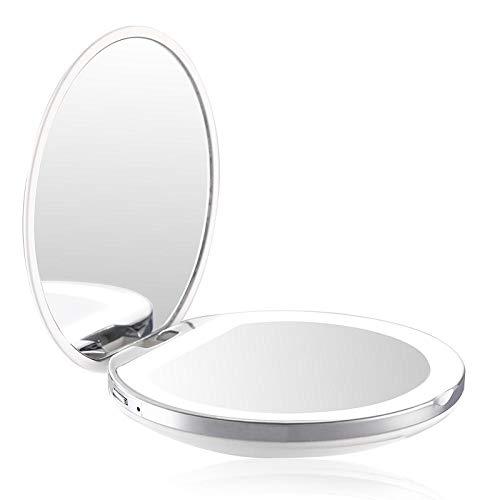 Leeslamp bedlampje tafellamp tafellamp tafellamp opvouwbare spiegel draagbare opvouwbare spiegel van make-upspiegel met de kleine opladende machinehelft van de
