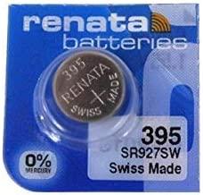 Renata 395 Button Cell watch battery, 5 Batteries