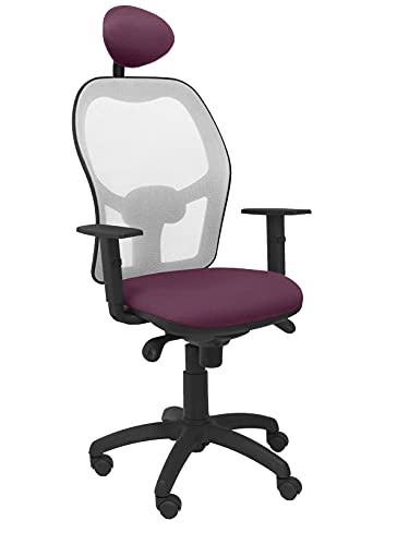 Piqueras Y Crespo (PIQU7) Sitzerhöhung aus Netzstoff Grau Sitzfläche Bali Lila mit festem Kopfteil Büro, Einheitsgröße