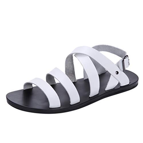 Sandali Uomo Romano di Colore Bianco Nero Marrone Dimensione 39-45 Vovotrade