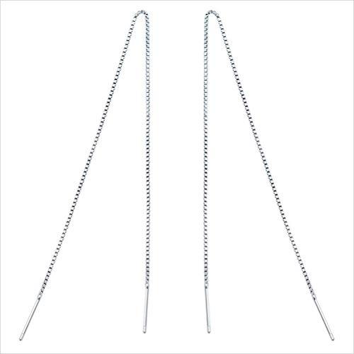 S925 zilveren oordraad eenvoudige Koreaanse mode oorbellen Temperament lange oorbellen ketting vrouw, 925 zilver oordraad, 16Cm, EEH A ZILVER