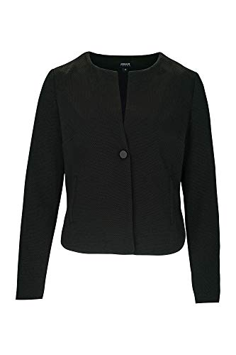 Armani Jeans 3Y5G08 5N1KZ - Chaqueta de mujer blazer Texred Scooter Made in Italy (42, Negro)