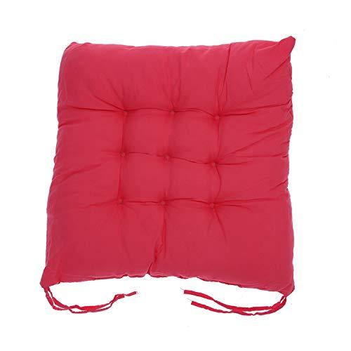 PENVEAT Home Office Decor Comfortable Cotton Seat Cushion Winter Office Bar Chair Back Seat Cushions Sofa Pillow Buttocks Chair Cushion,Watermelon Red