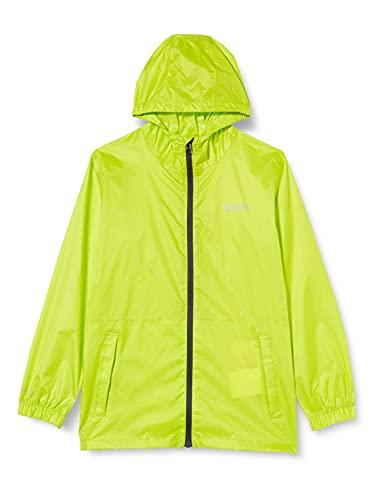 Regatta Ciré Technique et compactable Junior Pack-IT Jackets Waterproof Shell Mixte Enfant, Lime Punch, FR : 2XL (Taille Fabricant : 11-12)