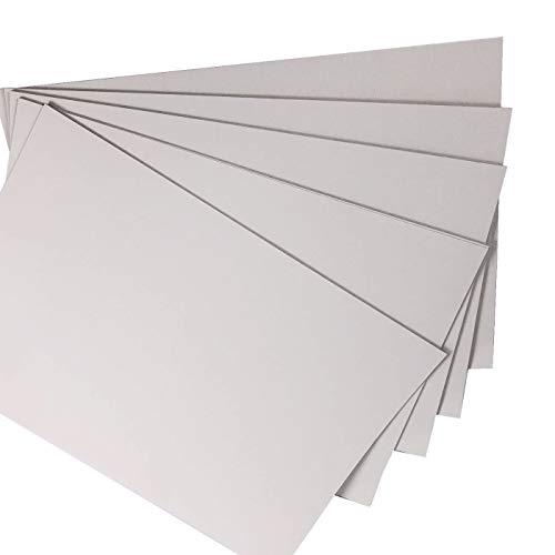 Cartulina fina gris para impresión y manualidades, tamaño A3, 160 g, paquete de 20 hojas, apta para impresoras, fotocopiadoras y actividades creativas
