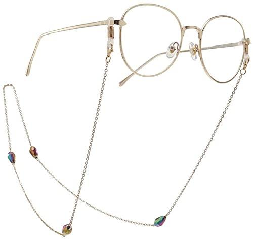 HaoLi Gafas Cadena Gafas Collar Cadena Antideslizante Gotas de Agua Multicolores Gafas...