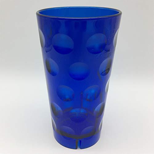 Dubbebecher (blau) 0,5 l aus Plastik mit Logofläche - Pfälzer Dubbeglas aus Kunststoff (Polycarbonat) mit Freifläche für Beschriftung oder Druck