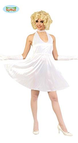 weißes Kleid als Filmstar Kostüm für Damen in Gr. M - L, Größe:L
