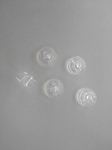 Pack 5 CANILLAS transparentes para Singer 968, 2110, 1247, 974, 288, 248, Samba etc