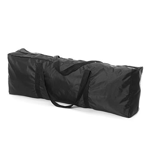 LUYOYO 110x25x45cm negro bolsa de pesca impermeable bolso bolso de hombro bolsa de almacenamiento aparejos de pesca