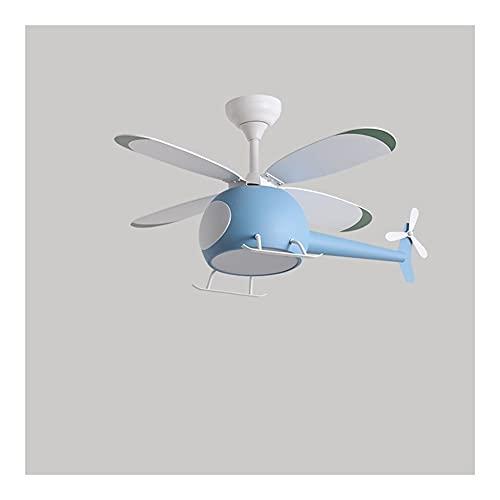 byby Ventilador de Techo en Forma de avión con luz, Control Remoto LED Dimagen 3 Colores Iluminación, Hojas de Madera de Madera de 42...