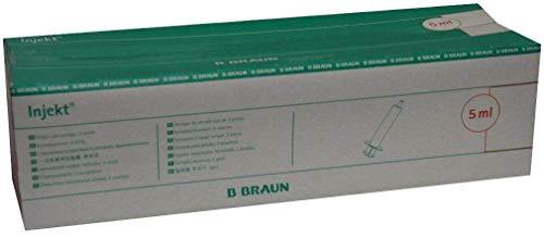 Braun INJEKT–Jeringuillas con mango. Cono Luer Central de B. Braun AG, 100X5 ml, 100