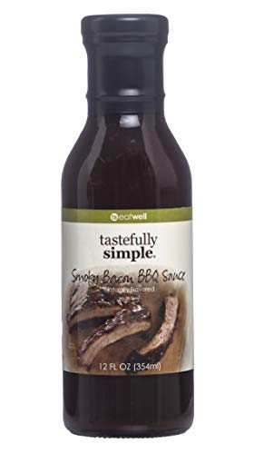 Tastefully Simple Smoky Bacon BBQ Sauce - Great on the grill for Burgers, Chops, Steaks, Ribs, Kabobs, Pulled Pork - 12 Fl oz