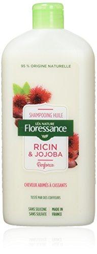 Floressance par nature Shampooing Huile de Ricin/Jojoba 500 ml - Lot de 2