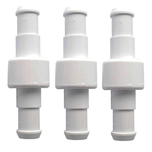 Poweka Racor Giratorio de Manguera para Robot Piscina Polaris 280/180/380/480/3900, Reemplazo de Giratoria de Manguera de Piscina Rodamiento de Bolas para Polaris D20 D-20 (3 Piezas)