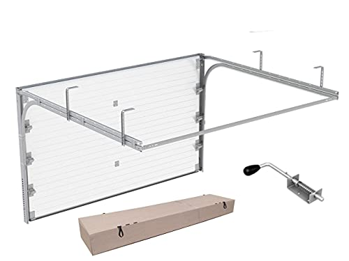 DoorHan Sektional Garagentor mit Stecker   zu Selbstmontage   Größen wählbar   5 Farben (2375 x 2030 RAL 7016 (Anthrazitgrau))